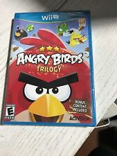 Angry Birds Trilogy Nintendo Wii U *Factory Sealed! *Free Shipping!