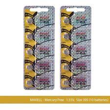 Maxell 395 SR927SW SR927 Silver Oxide Watch Batteries (10Pcs)