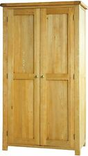 Pendle solid oak furniture full hanging double bedroom wardrobe