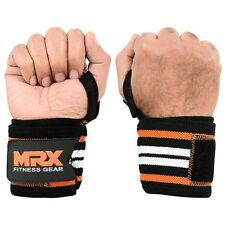 HEAVY POWER WEIGHT LIFTING WRIST WRAPS SUPPORT GYM TRAINING STRAPS FOR MEN WOMEN