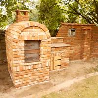 1 St. Ziegelstein Natursteinmauer Backsteine Outdoorküche Sichtschutz Pizzaofen