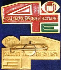 Spilla Badge 4° Salone del Mobile Italiano con smalti #C86
