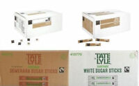 Tate & Lyle or Coronet  - White brown mix Sugar Sachets/sticks  - 100s