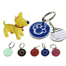BL_ KQ_ Anti-lost ENGRAVING Dog Cat ID Name Tag Disc Personalised Puppy Pet Tags