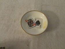 Vintage Royal Worchester Fine Porcelain Dish Ace & King Design
