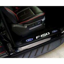Recon Illuminated Black Front Door Sills with F-150 Logo For 09 - 14 Ford F-150