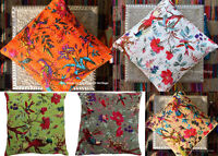 """5 Pc Wholesale Lot Assorted Indian Pillow Cushion Cover Kantha Throw 16"""""""