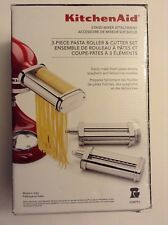 new kitchenaid ksmpra 3-piece pasta roller and cutter set stand mixer attachment