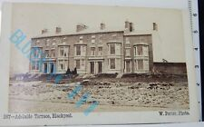 Victorian CDV Adelaide Terrace Blackpool By W Peterson Fleetwood 4 x 2.5 inches