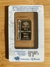 More details for pamp suisse palladium bar - 10g (fineness 999.5) - sealed/certified