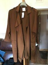Mango Suit Ladies Womens Suit Style Overcoat (Brown) Size Medium - BNWT