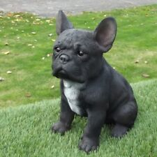 Gartenfigur Hund Französische Bulldogge 37.227A schwarz Garten lebensecht Figur