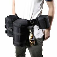 Camera Waist Padded Belt Lens Case Pouch Bag Holder Pack Strap Multi-function