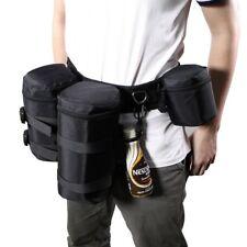 Acolchado bolso de lente de cámara de Cintura Cinturón Soporte Funda titular Pack correa ajustable