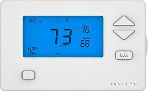 NEW Insteon 2441TH Heating and Cooling Smart Thermostat w/ Humidity Sensor