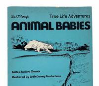 Walt Disney's True Life Adventures Animal Babies 1972 Vintage Kids Book RARE