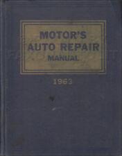 1955-1963 Motors Car Repair Manual 26th Edition Shop Service Book for US Models