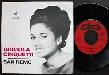 GIGLIOLA CINQUETTI EP MADE IN PORTUGAL 45 PS 7 * SAN REMO - DIO COME TI AMO *