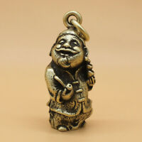 """Brass """"Ancient Chinese Landlord"""" Keychains Pendant Collectable Keyrings Gift"""