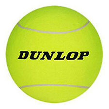 "Dunlop Jumbo Tennis Ball New Without Box Deflated 9.5"" (Yellow) Needle Included"