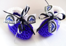 - Baseball Fans! Colorado Rockies Baby Booties