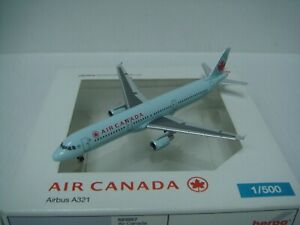 """Herpa Wings 500 Air Canada AC A321-200 """"2004s Frozen Leaf color"""" 1:500 NG"""