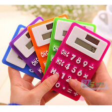 Solar Powered Stationery Silicone Rubber Calculator Flexible Easy Read Numbers