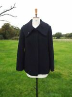 Between Seasons Marks & Spencer M&S Black Boucle Wool Mix Jacket Lined Size 16