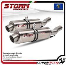 Storm OVAL 2 terminali di scarico acciaio omologati YAMAHA TDM900 2002>2014