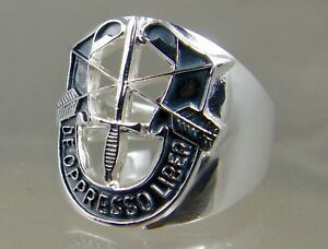 US Army Special Forces De Oppresso Liber Solid sterling ring size 10.5