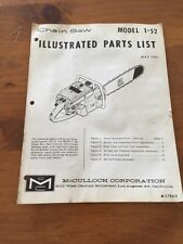 McCulloch Chainsaw Manual Model 1-52, 1961