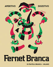 "Fernet Branca Aperitivo Digestivo Milan Milano 16""X20"" Vintage Poster FREE SH"
