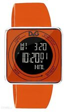 D&G Women's DW0738 High Contact Orange Dial & Strap Touch Screen Watch. New/Box
