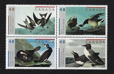 Canada Stamps — Block of 4 — John James Audubon's Birds #1979-82 (1982a) — MNH