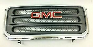 2013-2016 GMC Acadia Front Grille Silver and Black new OEM 22785561