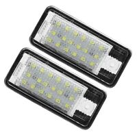 Car LED License Number Plate Light Lamp White for -Audi A3 S3 8P A4 B6 B7 A R7C7