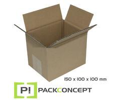 Faltkarton 150 x 100 x 100 mm B-Welle; Karton; Pappkarton; Versandkarton #7