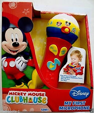 DISNEY MICKEY MOUSE CLUBHOUSE,MY FIRST MICROPHONE,LIGHTS,SONGS,SOUNDS,12M+,NEW
