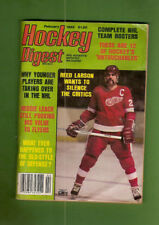 #D230. Ice Hockey Digest Magazine February 1982