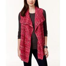 Bass 6035 Womens Pink Knit Space Dye Sleeveless Cardigan Sweater Top XL BHFO