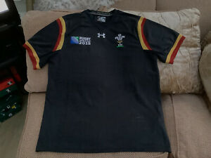 Under Armour Wales Rugby Union World Cup 2015 Away Shirt Brand New Without Tags