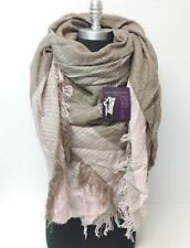Pink / Brown Long Blanket Oversize Scarf Wrap Shawl Colorblock Square Pashmina