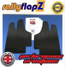 rallyflapZ VAUXHALL CORSA D VXR (06-14) Full Mud Flaps Kit Qty4 Black 4mm PVC