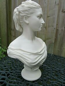 ANTIQUE 19THC LARGE COPELAND PARIAN BUST OF PRINCESS LOUISE DAUGHTER OF VICTORIA