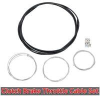Motorcycle Clutch Brake Throttle Cable Set Repair Kit For Honda Suzuki Yamaha