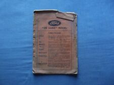 Ford Deluxe Instruction book Repair charge Registration form card Envelope empty