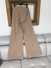 Ralph Lauren CAMEL gamba larga Palazzo pantaloni