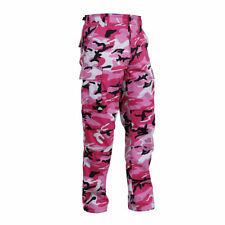 Pink Camo Motorcycle Bikers Cargo Jeans / Trousers 6 Pockets Lined with Kevlar