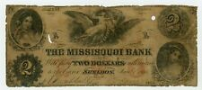 1855 $2 The Missisquoi Bank - Sheldon, Vermont Note