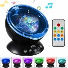 Ocean Wave Music LED Night Light Projector Remote Lamp Baby Sleep Gift UK Stock